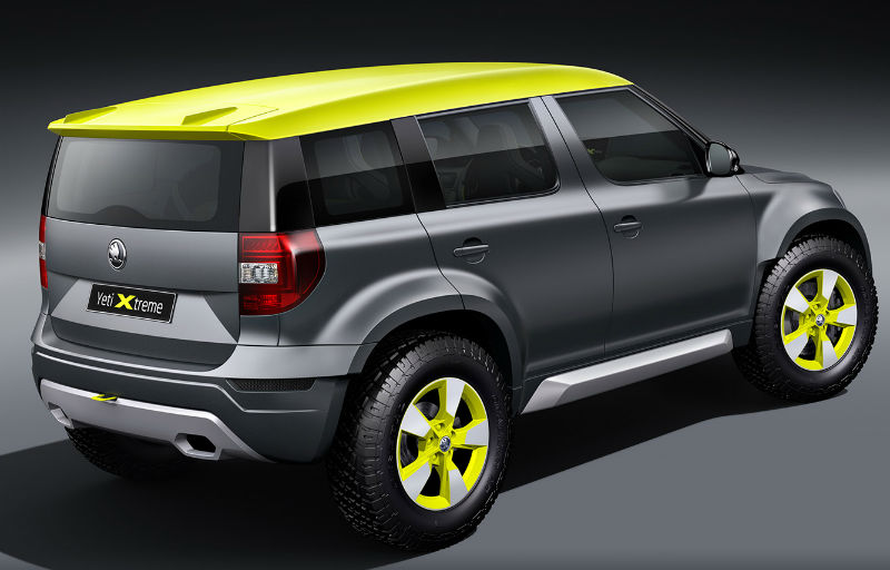 Skoda Yeti Extreme Concept Back View