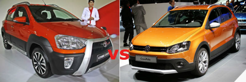 Toyota Etios Cross vs Volkswagen Cross Polo Specifications Comparison