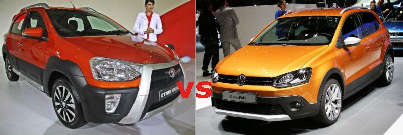 Toyota Etios Cross vs Volkswagen Cross Polo Specifications Comparison