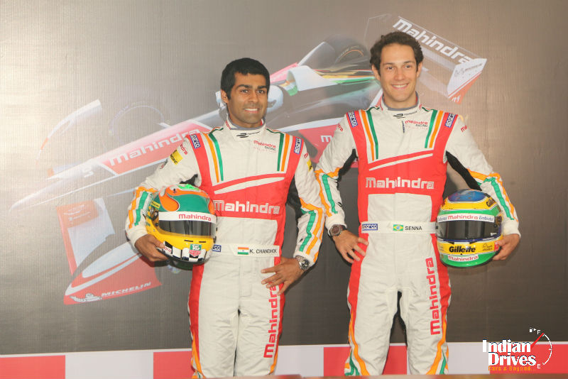 Karun Chandhok & Bruno Senna to drive for Mahindra Racing in inaugural FIA Formula E Championship