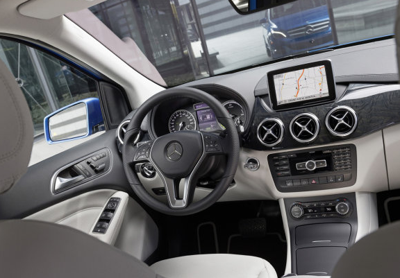 Mercedes Benz B-Class Electric Drive interiors
