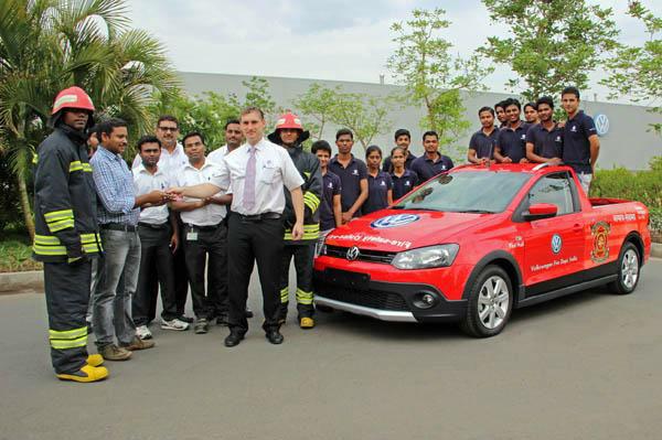 Volkswagen Academy students build fire-fighting car