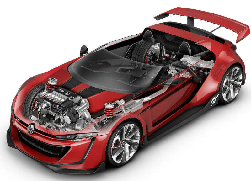 Volkswagen GTI Roadster Interior design