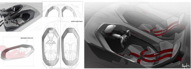 Volkswagen GTI Roadster Vision Gran Turismo interiors