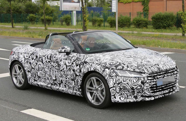 2015 Third-Gen Audi TT Convertible Captured in First Spy-Shots