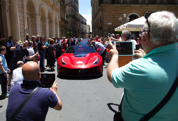 Ferrari reveals one-off F12 TRS at Sicily cavalcade