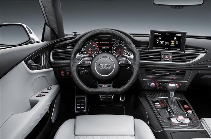 Audi RS7 Facelift Revealed interiors