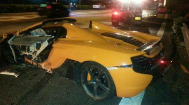 Brand New McLaren 650S Spider Crashed During Test