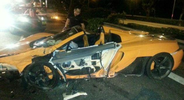Brand New McLaren 650S Spider Crashed