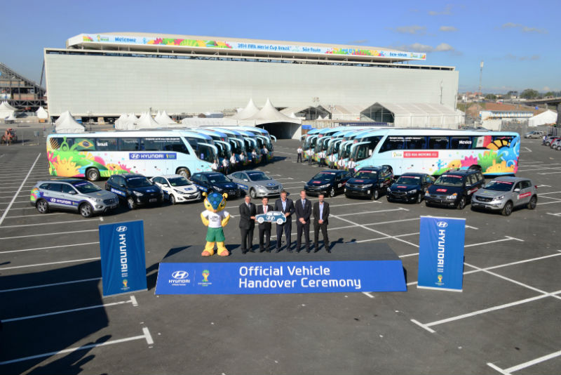 Hyundai 2014 FIFA World Cup Association had Covered 1021 Cars and 32 Buses