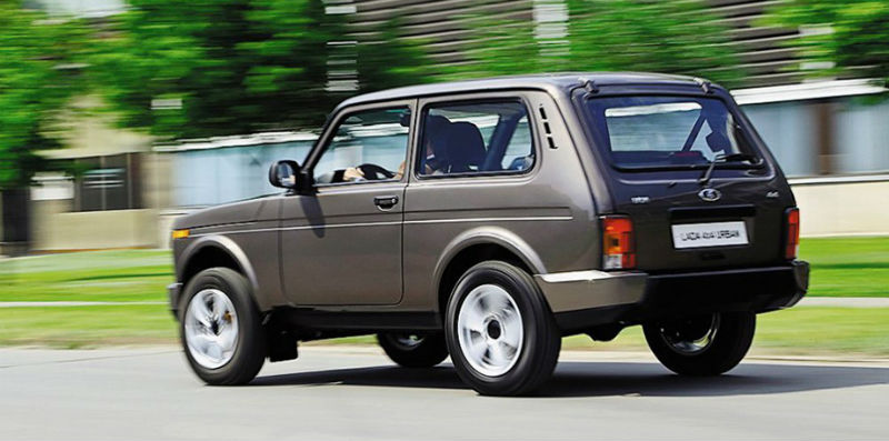 Lada Niva Goes Urban Back View