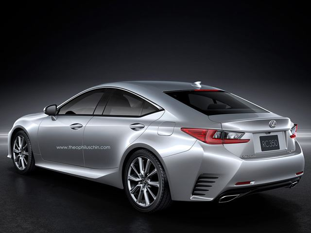 Lexus RC Back View