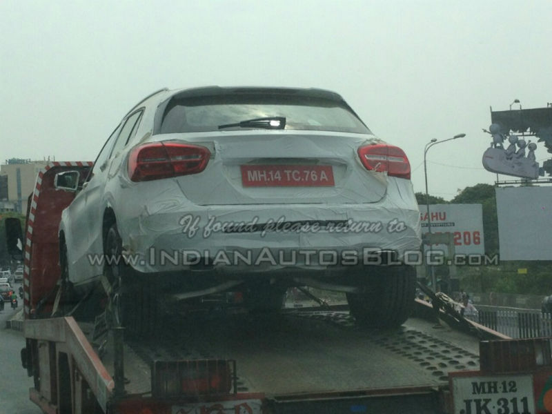 Mercedes-Benz GLA Spied for First Time in India
