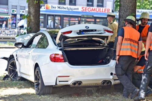 New BMW M4 Crashed
