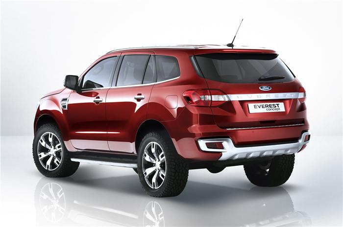New Ford Endeavour Back View