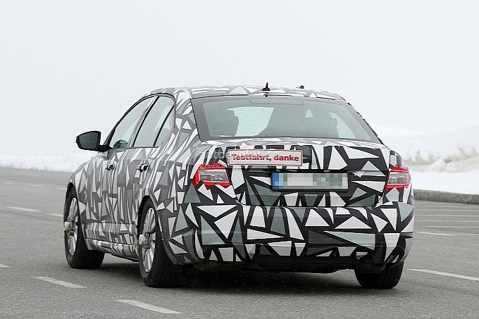 Skoda Octavia Spy Shots Back View