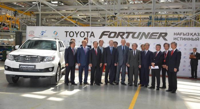 Toyota Fortuner Commences Production in Kazakhstan