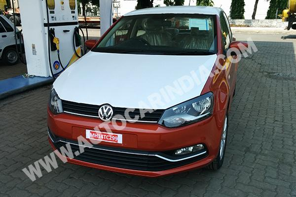 Volkswagen Polo Facelift Spotted for the First Time in India