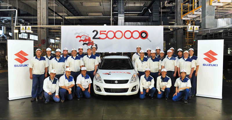2.5-Millionth Car Rolls Off Magyar Suzuki's Production Line