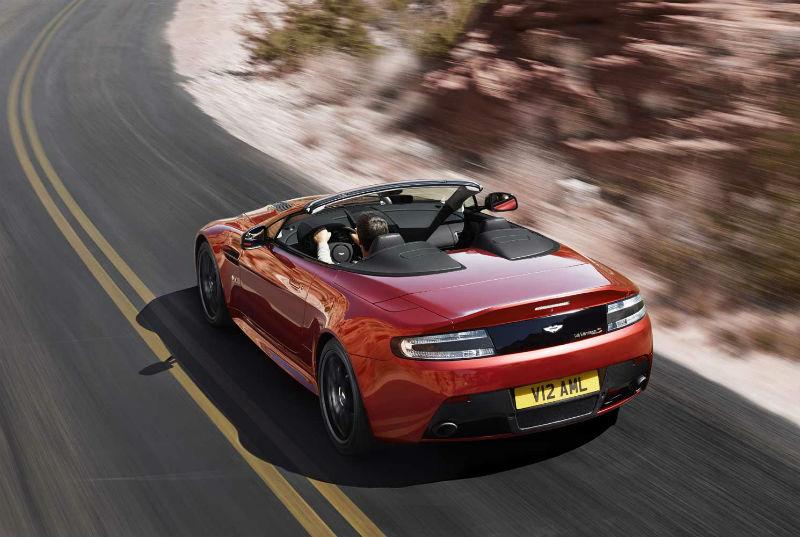 Aston Martin V12 Vantage Roadster Back View