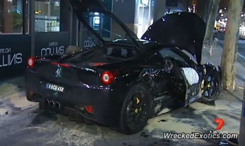 Ferrari 458 Italia Runs Red Light And Crashes: Driver Flees Scene