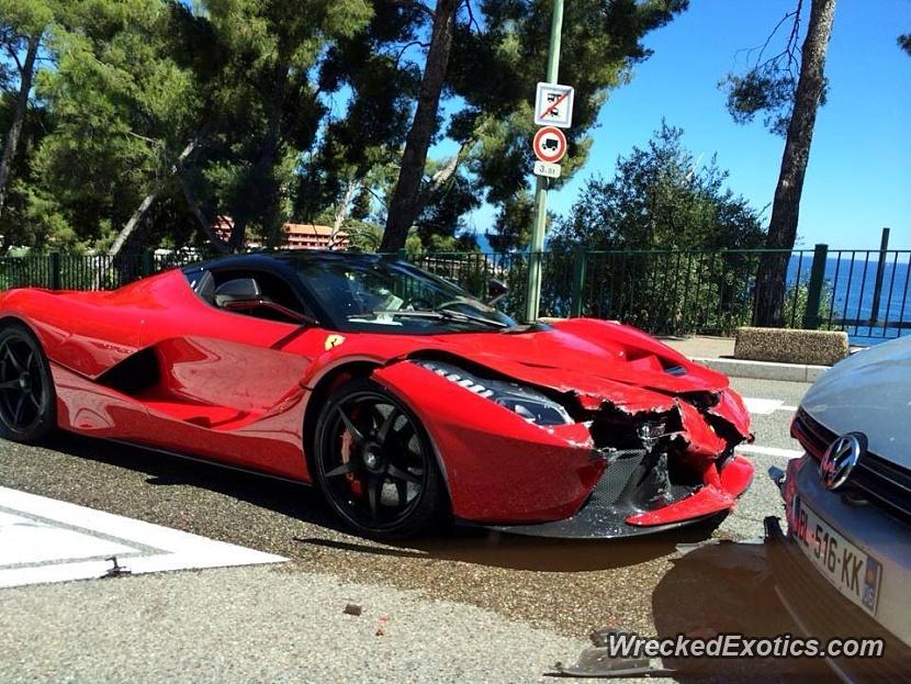 Ferrari LaFerrari First Crash Reported From Monaco