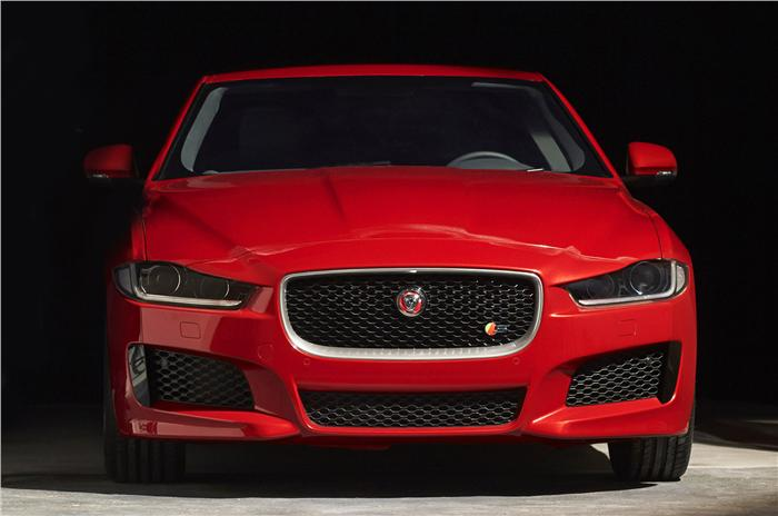 Jaguar XE Front Revealed Unveiling At Paris Motor Show 2014