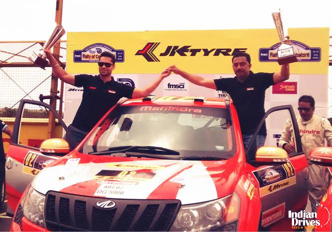 Mahindra Adventure Wins Rally Of Coimbatore 2014