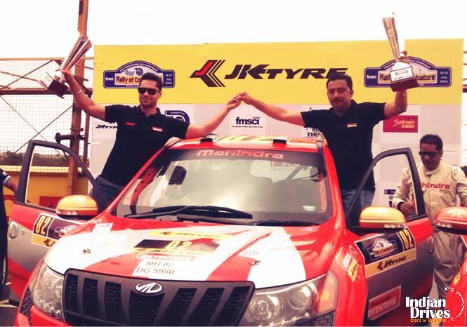 Mahindra Adventure Wins Rally Of Coimbatore 2014