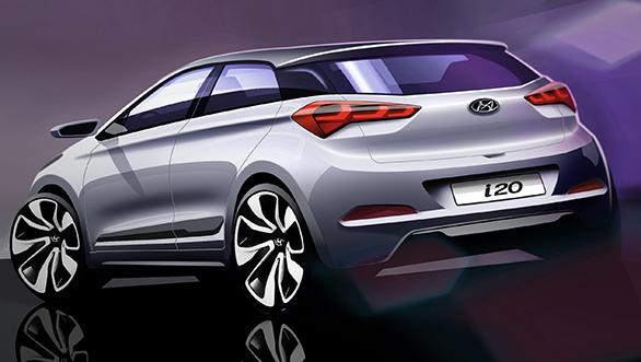 All New Hyundai Elite i20 Back View