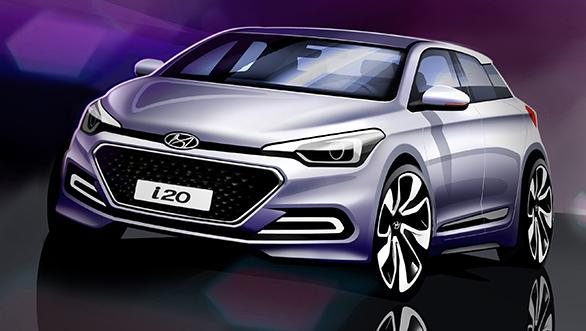 All New Hyundai Elite i20 Revealed In Sketches