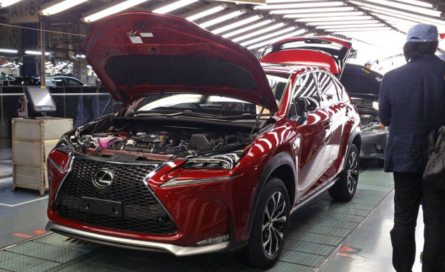 Lexus NX Enters Production