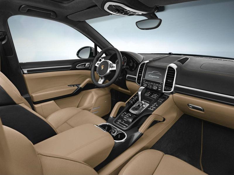 Porsche Cayenne Platinum Edition interiors