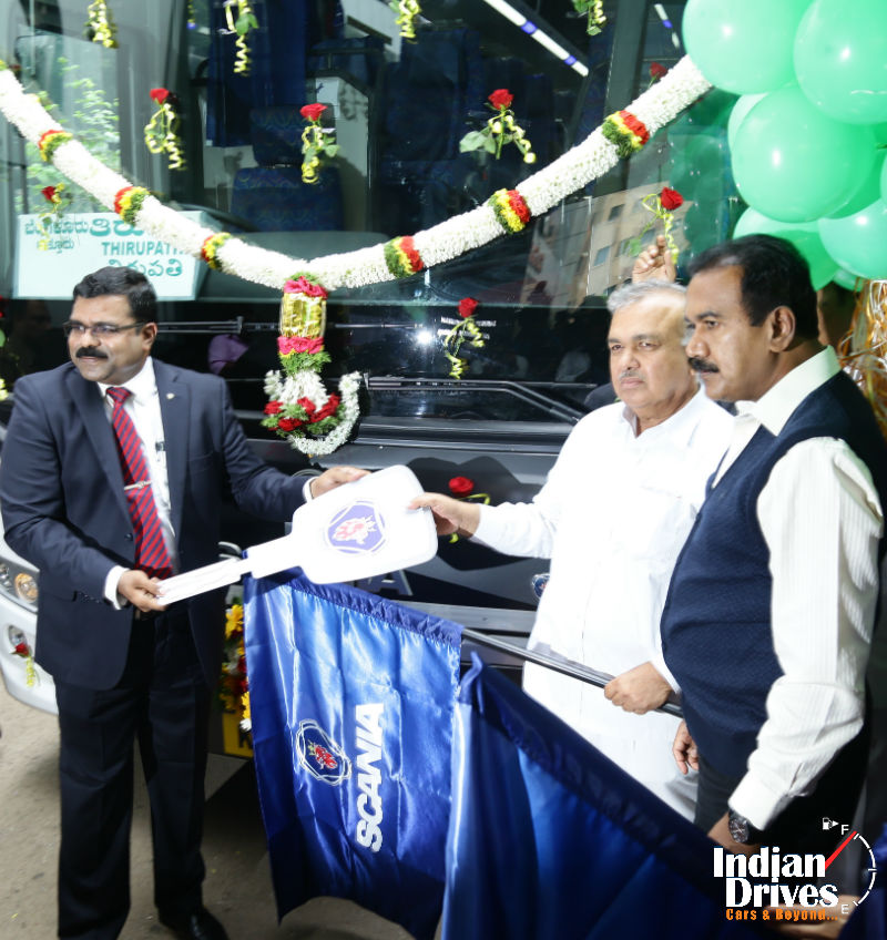 Scania Metrolink Coaches Handed Over To KSRTC For Trial Runs