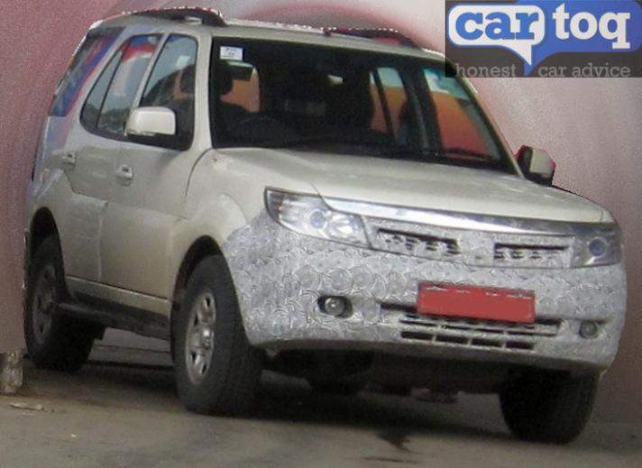 Tata Safari Storme Facelift Launch Soon Spy-Shots