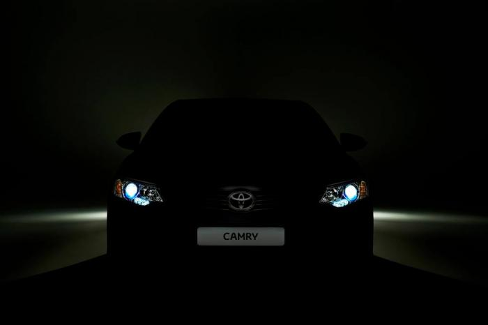 Toyota Camry Facelift Teased For Moscow Motor Show