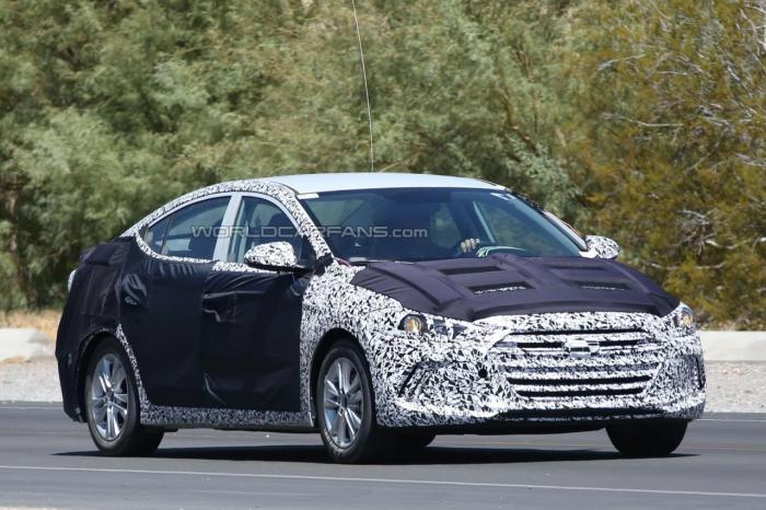 2016 Hyundai Elantra To Have Genesis-Inspired Front Fascia Spy-Shots