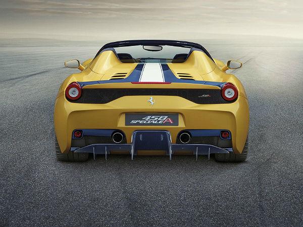 Ferrari 458 Speciale Back View