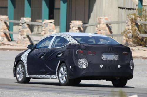 Hyundai Spy Shots Back View