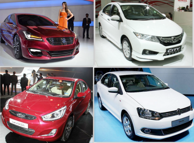 Maruti Ciaz vs Honda City vs Hyundai Verna vs Volkswagen Vento: Specifications Comparison