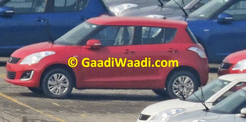 Maruti Swift Facelift Spotted First Time In India