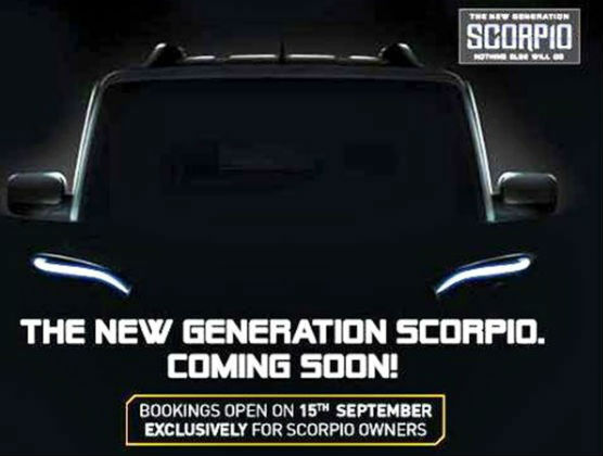 New Mahindra Scorpio Bookings Commenced