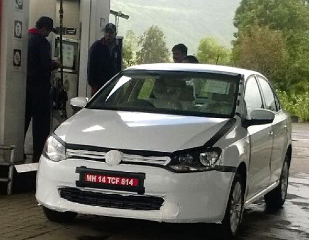 Volkswagen Vento Facelift Spied Testing In India For First Time