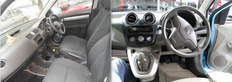 Used Maruti Swift vs New Datsun GO Interior