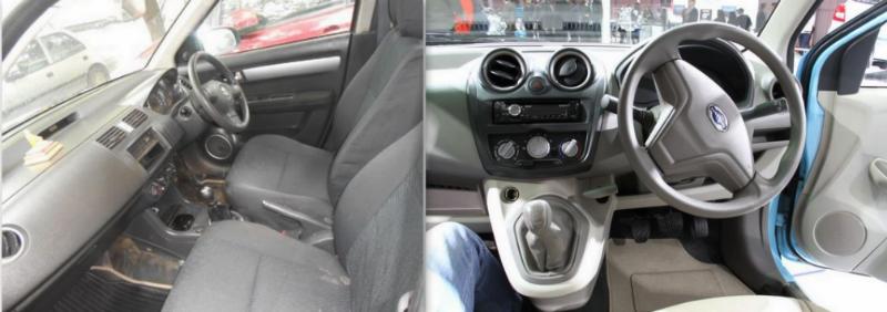 Used Maruti Swift vs New Datsun GO Interior