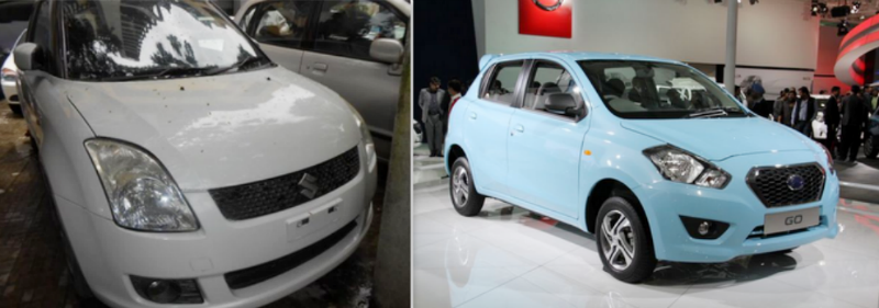Used Maruti Swift vs New Datsun GO