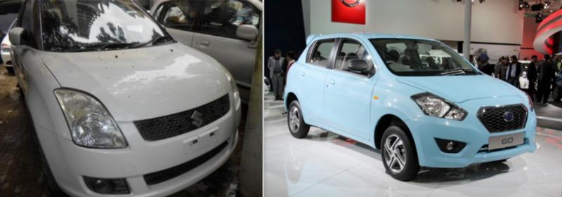 Used Maruti Swift vs New Datsun GO