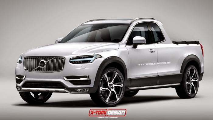 Volvo XC90 Pickup Truck Rendered