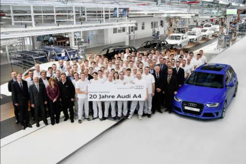 Audi A4 Celebrates 20th Anniversary; Confirmed New-Generation Model
