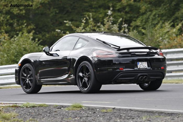 2016 Porsche Cayman Facelift Spotted Back View